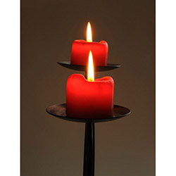 Duvar Tasarım DLC 1095 Candle Led Canvas Tablo - 70x50 cm