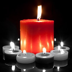 Duvar Tasarım DLC 1101 Candle Led Canvas Tablo - 70x50 cm