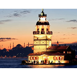 Duvar Tasarım DLC 1165 City & Mix Led Kanvas Tablo  - 50x70 cm