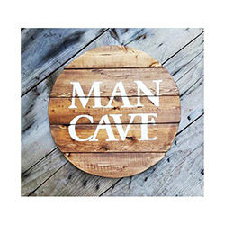 Oldwooddesign Man Cave Ahşap Tablo - 40x40 cm