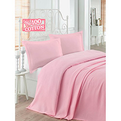 Eponj Home Small Petek Tek Kişilik Pike - Pembe