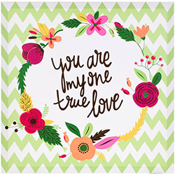 EuroFlora 96321 True Love Kanvas Tablo - 40x40 cm