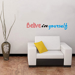 DekorLoft DY-102 Belive In You Self Duvar Sticker