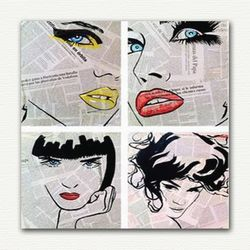 Decoclub Retro Fashion DEC213 MDF Tablo - 30x30 cm