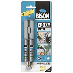 Bison Epoxy Metal Çift Şırınga Blister 24 ml