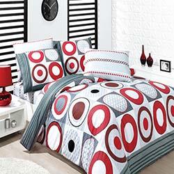 Baysal Esra Kırmızı Çift Kişilik Uyku Seti