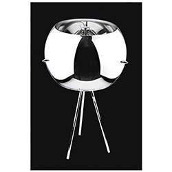 Stil 3'lü Krom Renk Camlı Metalik Modern Masa Lambası