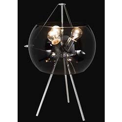Stil 3'lü Siyah Camlı Modern Masa Lambası