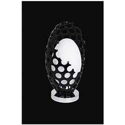 Vizyon Tekli Dekoratif Siyah Camlı Modern Masa Lambası