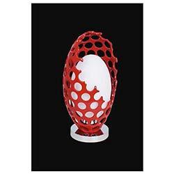 Vizyon Tekli Dekoratif Kırmızı Camlı Modern Masa Lambası