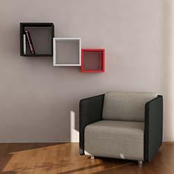 Matte Kutugen Kitaplık - Siyah Beyaz Kırmızı