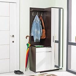 Adore Elegant Aynalı Portmanto Ve Ayakkabılık Dolabı - Venge / Beyaz