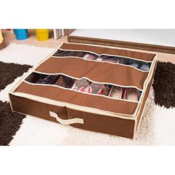 Handy Mate Yatak Altı Ayakkabı Düzenleyicisi (60x60x13) - Kahverengi