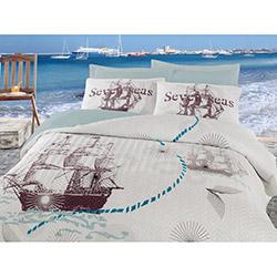 Cotton Box Seven Seas Ranforce Çift Kişilik Dört Mevsim Set - Mint