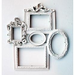 Ahşap Tasarım 5'li Çerçeve - Beyaz
