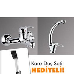 Banyo ve Mutfak Bataryası Takımı ( Kare Duş Seti Hediyeli )