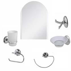 Alper Banyo Kubbeli 6'lı Aynalı Banyo Seti