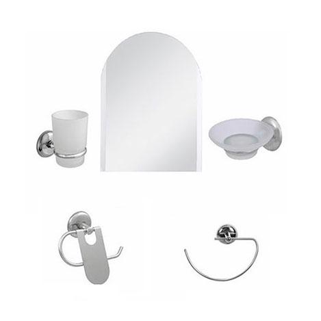 Alper Banyo Kemer 5'li Aynalı Banyo Seti