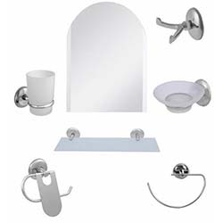 Alper Banyo Kemer 7'li Aynalı Banyo Seti