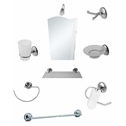 Alper Banyo Gönen 9'lu Aynalı Banyo Seti