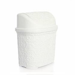 Alper Banyo Dantelli Hasır Klik Çöp Kovası - Beyaz