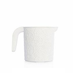Alper Banyo Dantelli Hasır Maşrapa - Beyaz