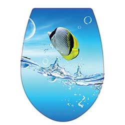 Kırılmaz Balık Desenli Klozet Kapağı