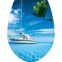 Kırılmaz Gemi Desenli Klozet Kapağı