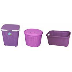 3'lü Banyo Sepeti - Mor