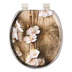 Alper Banyo 3102 Çiçek Desenli Süngerli Klozet Kapağı