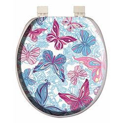 Alper Banyo 3054 Kelebek Desenli Süngerli Klozet Kapağı
