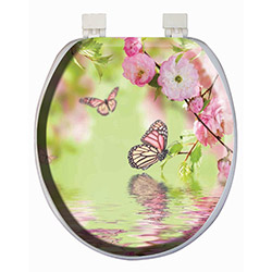 Alper Banyo 3635 Kelebek Desenli Süngerli Klozet Kapağı
