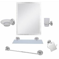 Alper Banyo No:63 6'lı Aynalı Banyo Seti - Krom