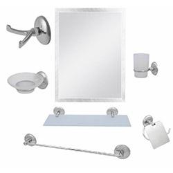 Alper Banyo No:66 7'li Aynalı Banyo Seti - Krom