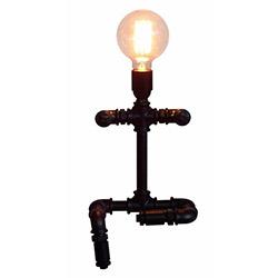 Adalinhome AD3420 Rustik Retro Masa Lambası - Siyah