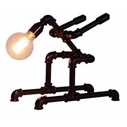 Adalinhome AD3421 Rustik Retro Masa Lambası - Siyah