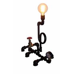 Adalinhome AD3423 Rustik Retro Masa Lambası - Siyah