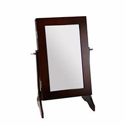 Westinnhouse Aynalı Mini Takı ve Aksesuar Dolabı - Kahverengi