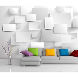 Artmodel 3D Duvar Kağıdı (Beyaz) -  390x270 cm