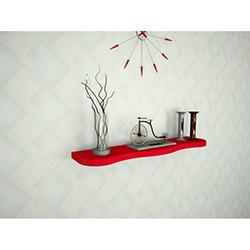 Ankara Mobilya Yuvarlak Kenarlı Duvar Rafı - Kırmızı