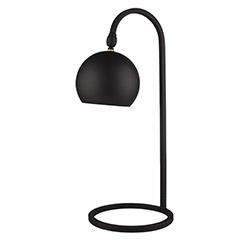 Fivorno Moddy Pütürlü Oynar Başlıklı Masa Lambası - Siyah