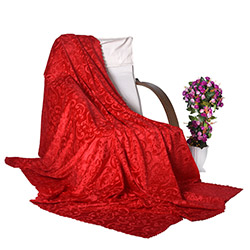 Snow Premium Tay Tüyü Koltuk Örtüsü (Kırmızı) - 195x215 cm