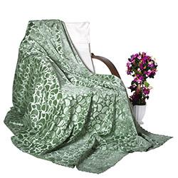 Adora Tay Tüyü Koltuk Örtüsü (Yeşil) - 195x215 cm