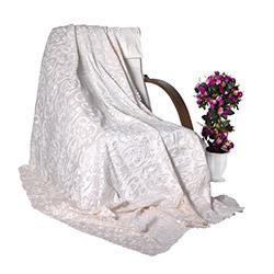 Snow Premium Tay Tüyü Koltuk Örtüsü (Ekru) - 195x215 cm
