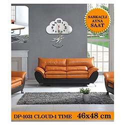 Cloud-1 Sarkaçli Ayna Saat 46X48 Cm
