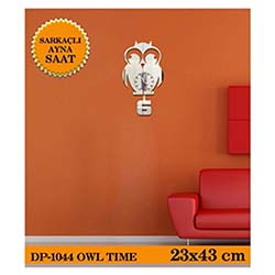 Owl Sarkaçli Ayna Saat 23X43 Cm