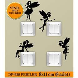 Vinil Piriz Sticker Periler (Siyah) - 8 Adet