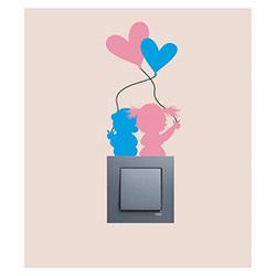 Artikel Küçük Aşıklar 4'Lü Vinil Priz Sticker - 15x8,2  cm