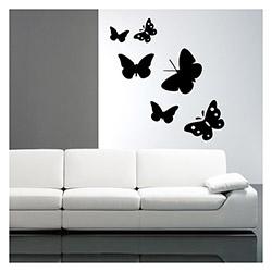 Artikel 6'lı Kelebek Kadife Duvar Sticker