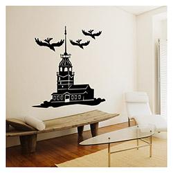Artikel Kız Kulesi Kadife Duvar Sticker - 115x116 cm